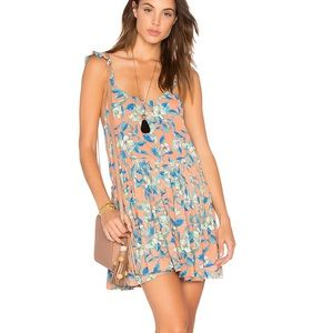 Free People orange combo mini dress medium